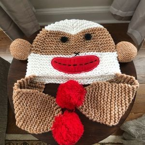 Sock monkey winter hat